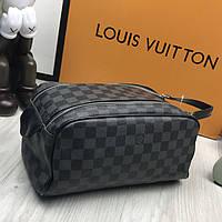 e9fb310eeb31 Стильная барсетка Louis Vuitton LV серая экокожа мужская Люкс сумка Луи  Виттон Модная качественная копия