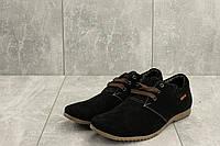 Мокасины мужские Braxton 377 черные (замша, весна/осень), фото 1