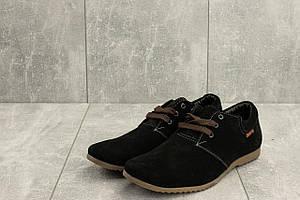 Мокасины мужские Braxton 377 черные (замша, весна/осень)