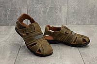Подростковые сандали кожаные летние оливковые Yuves 158, фото 1
