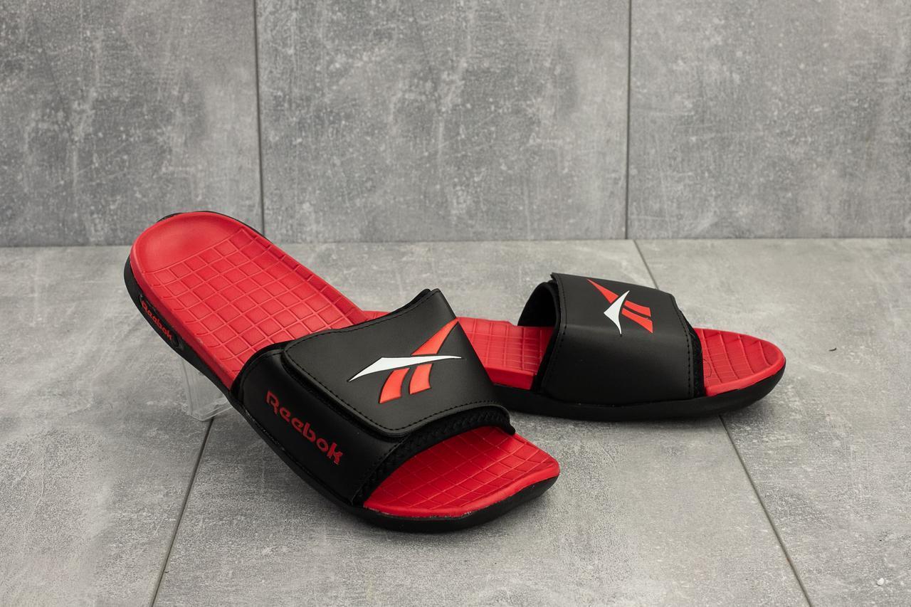 Шлепанцы мужские Classica G 6503 -1 черные-красные (резина, лето)