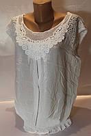 Блуза женская на лето модного кроя с гипюром в расцветках