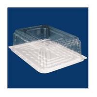 Пластиковая коробка для торта прямоугольная (10 штук)