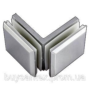 Крепление стекло-стекло 90° К902 хром 45х45, фото 2