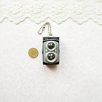 Миниатюра РЕТРО Фотоаппарат, черный с серым - 4 см