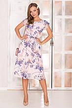 481dcb9805e Легкое шифоновое платье AZ-134 из принтованой ткани 29 (принт - цветы)