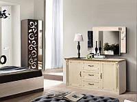 Комод Фридом 2 - дверный и 3 ящика, 485 х 1510 х 870 цвет слоновая кость + золотая патина