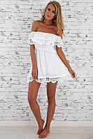 Женское мини платье / пляжное платье 🌴
