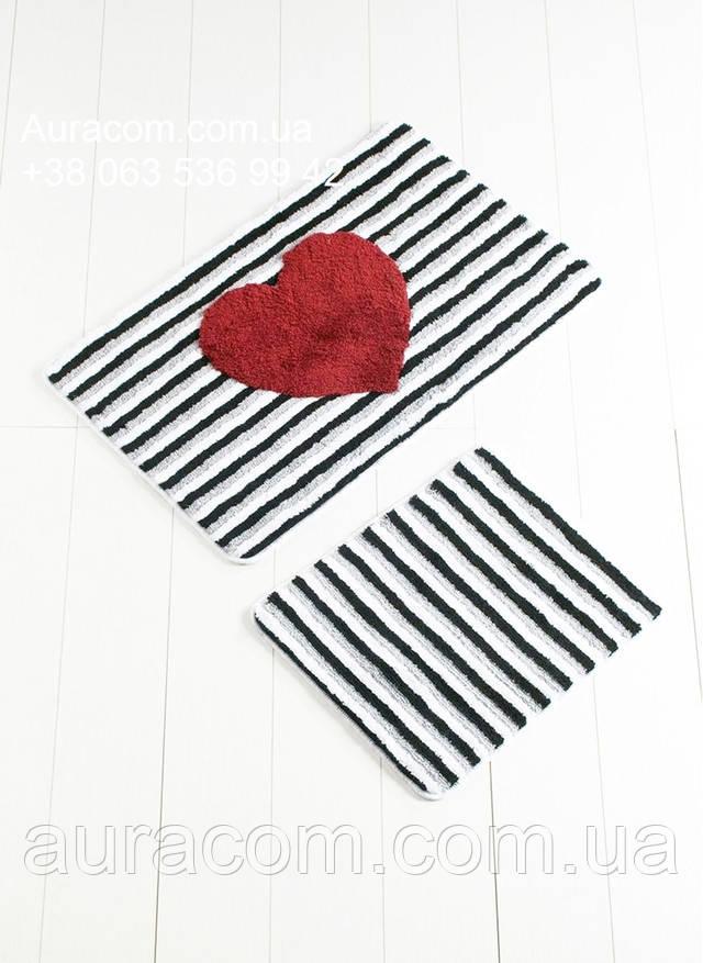 Мягкий пушистый коврик, набор, 2 коврика, Турция