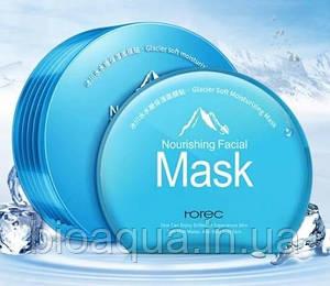Набор масок Rorec на основе ледниковой воды в пластиковом контейнере (6 штук) голубая