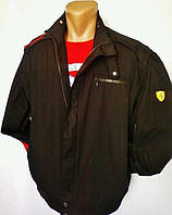Куртка автогонщика Puma Ferrari, фирменная ветровка, есть голограмма защиты, 100% коттон, чёрная с красным
