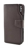 Мужской кошелёк портмоне Baellerry Business Темно-коричневый