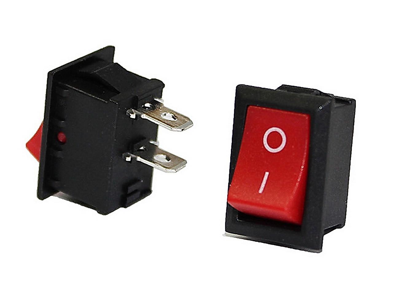 Клавишный переключатель KCD1-101-C3-R/2P ON-OFF 2pin красный