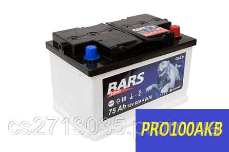 Автомобильный аккумулятор Bars silver 75 Ач 650 А (0) R+ h=175мм