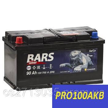 Автомобильный аккумулятор Bars silver 90 Ач 750 А (0) L+