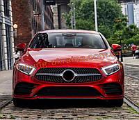 Передняя решетка Diamond на Mercedes CLS C257 2018 + гг.