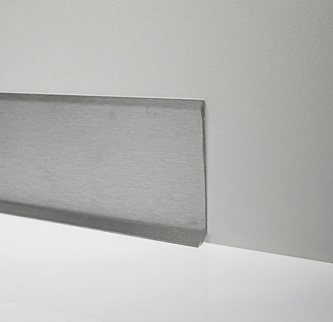 Плинтус напольный из нержавеющей стали накладной Profilpas 60 мм сатинированный 2700 мм 790/6