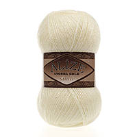 Пряжа Alize Angora gold simli 01 для ручного вязания