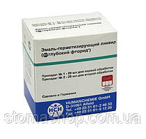 Эмаль-герметизирующий ликвид (20+20 мл) / Тифенфлюорид / Глубокий фторид, Humanchemie