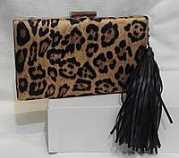 Вечерняя сумочка клатч на цепочке. Вечерний  клатч.Леопардовый клатч., фото 1