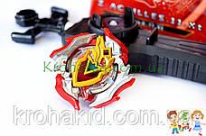 Игрушка BeyBlade Z Achilles B-105 / Бейблейд Зет Ахиллес (красный с серебристым) SB, фото 2