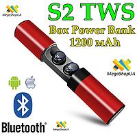 Беспроводные Bluetooth наушники Air Pro TWS S2 с кейсом для зарядки Box - Power Bank S2 TWS