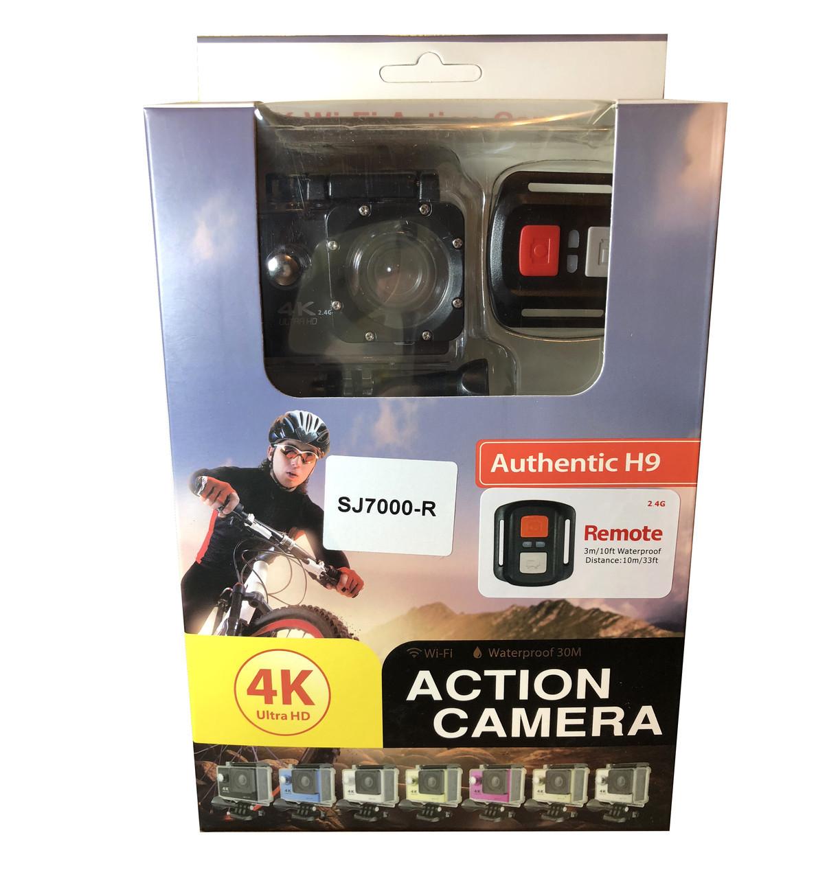 Экшн камера 4K wi-fi +Пульт Видеорегистратор+ Аквабокс +крепления аналог Go Pro