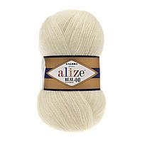 Пряжа Alize angora real 40 01 для ручного вязания
