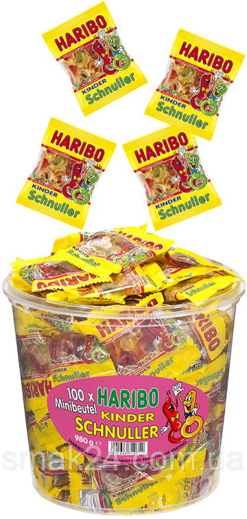 Желейные конфеты Детская соска Haribo Kinder Schnuller (фруктовый микс) 9,8г Германия