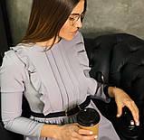 Платье женское стильное миди серое красное бордо, фото 4
