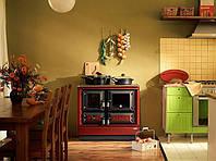 Отопительно варочная печь камин на дровах KVS Moravia 9112 - Klaudie Бордовая ., фото 1