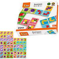 Детское домино игра Viga Toys Насекомые (50127)