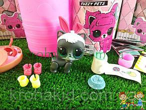 Кукла LOL Surprise Fuzzy Pets Makeover, ЛОЛ питомцы с кинетическим песком / Лол животное 5 серия - аналог, фото 2
