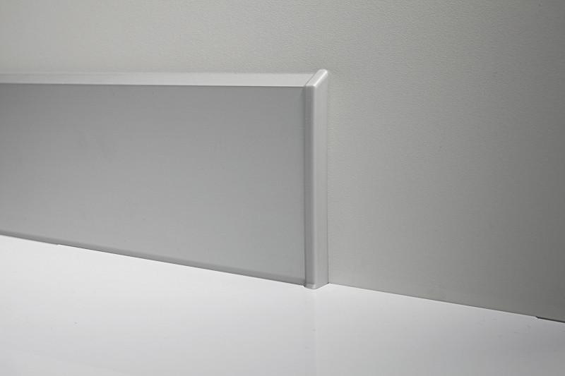 Плінтус алюмінієвий дизайнерський з кабель-каналом Profilpas 100 мм анодований 4000 мм 95/10