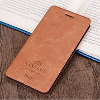 Чехол-книжка MOFI Vintage для Xiaomi Redmi Note 7 Коричневый