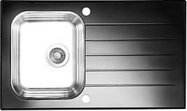 Кухонная мойка Alveus Glassix 10 (стекло черное) (с доставкой)