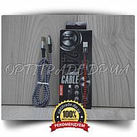"Data Cable Micro USB ""JKX-012"" Тканевая оболочка Smart Cable 100см."