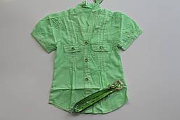 Котоновая рубашка для девочек 2- 6 лет