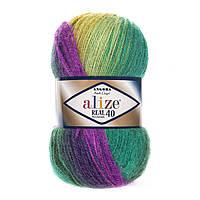 Пряжа Alize angora real batik 40 4880 для ручного вязания