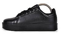 Женские кроссовки adidas Stan Smith (Адидас Стэн Смит) черные