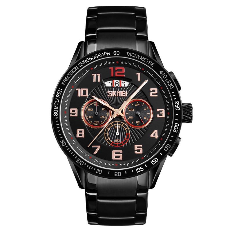 Skmei 9176 mclaren black gold мужские часы