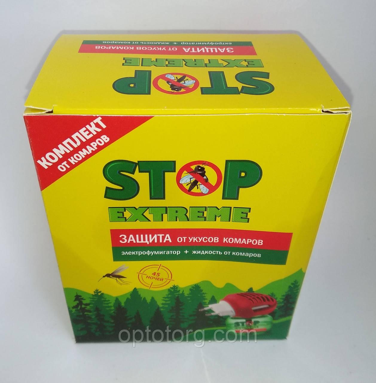 Фумигатор+жидкость от комаров Стоп Экстрим Stop Extreme  45 ночей
