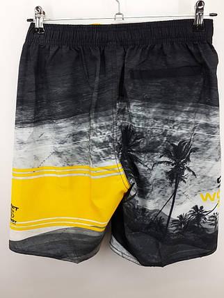Шорты мужские пляжные желтые 2144 на 44 46 48 50 52 размер., фото 2