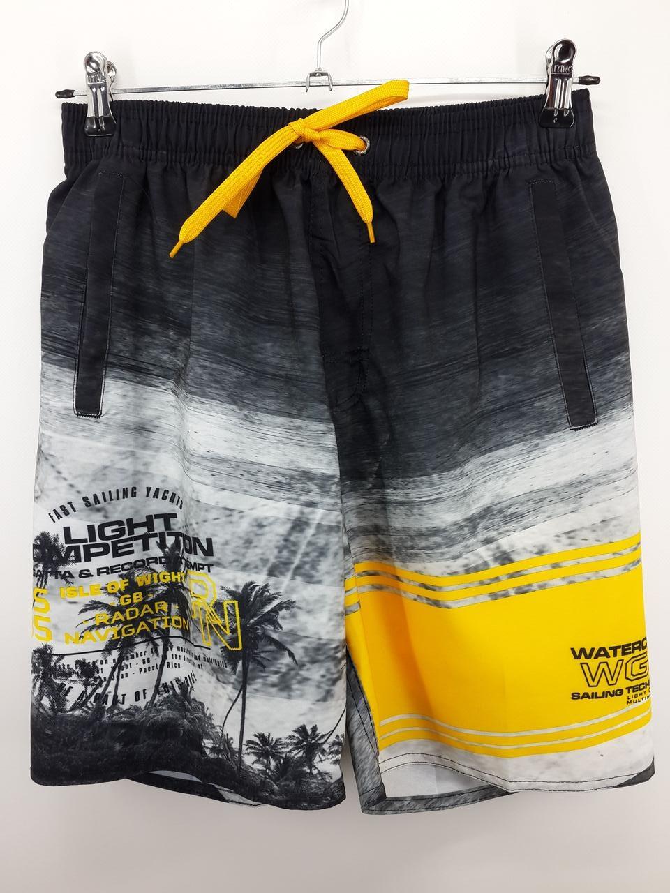 Шорты мужские пляжные желтые 2144 на 44 46 48 50 52 размер.