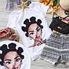 Стильная футболка с крутыми принтами брендов белая и черная, фото 5