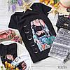 Стильная футболка с крутыми принтами брендов белая и черная, фото 6