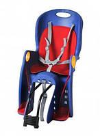 Детское велосипедное кресло Велокресло Сине красное