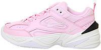 "Женские кроссовки Nike M2K Tekno ""Pink/White/Black"" (Найк) розовые"