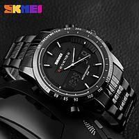 Skmei 1131 army черные с белым спортивные  часы мужские, фото 1
