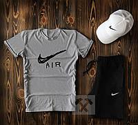 Мужской летний спортивный комплект с белой кепкой
